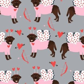 labrador chocolate love bug black lab dog breed fabric grey
