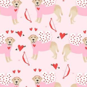 labrador yellow love bug black lab dog breed fabric pink