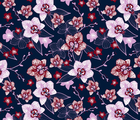 navy and orchid-01 fabric by suzyspellbound on Spoonflower - custom fabric
