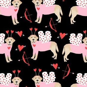 labrador yellow love bug black lab dog breed fabric black