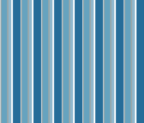 Blue Button Multi Stripe fabric by betz on Spoonflower - custom fabric