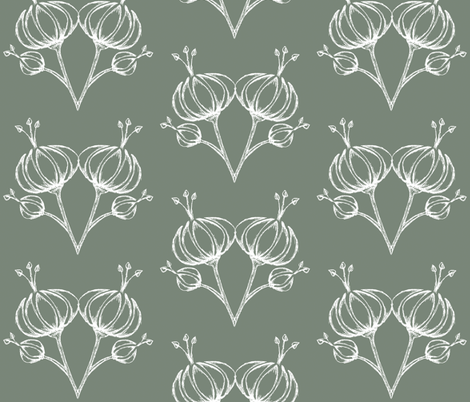 FOREIGN FLOWER TWIN/EARTH TONE fabric by shakeeta_draper on Spoonflower - custom fabric