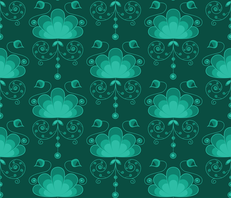 Arcadian Garden fabric by groundnut_apiary on Spoonflower - custom fabric