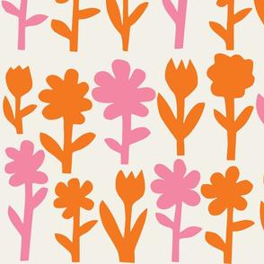 Pop! Goes the Flowers. Orange/Pink Light