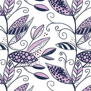 orchid and navy