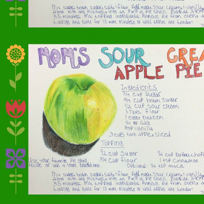 Mom's Sour Cream Apple Pie Tea Towel