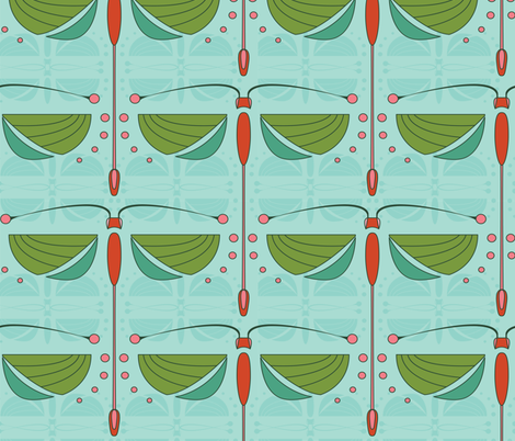 ArtDeco Dragonfly  fabric by karah_stewart on Spoonflower - custom fabric