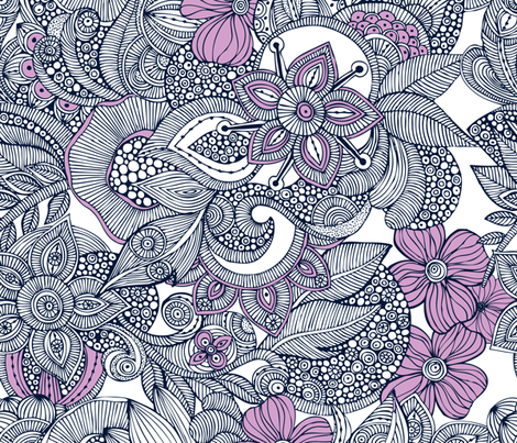 Orchid doodles fabric by valentinaharper on Spoonflower - custom fabric