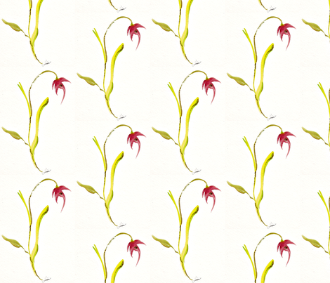 watercolors  flowing flower pink fabric by lissikaplan on Spoonflower - custom fabric