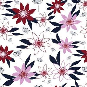 Floral limited palette