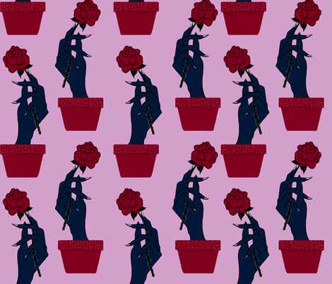 Rose From the Dead fabric by kaylalalane on Spoonflower - custom fabric
