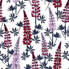 Lupine Fields navy orchid large