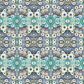 anemone carpet - teal