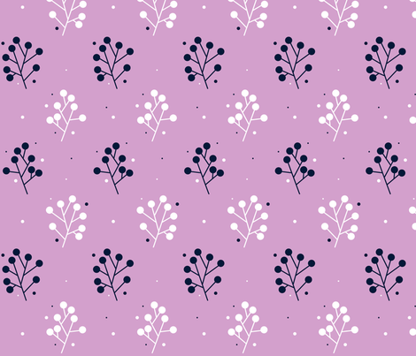navy-orchid-1 fabric by aneika on Spoonflower - custom fabric