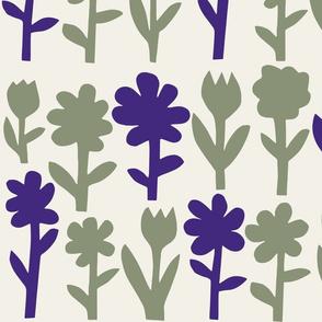 Pop! Goes the Flowers. Sage/Ultra Violet Light
