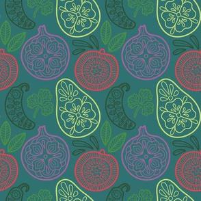 Guacamole Flourish Teal