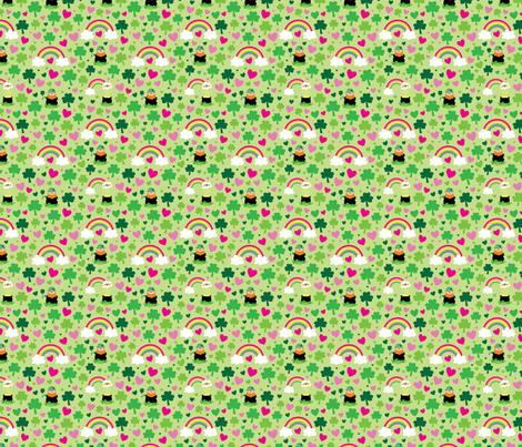 aloha leprechaun and rainbow fabric by alohababy on Spoonflower - custom fabric