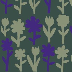 Pop! Goes the Flowers. Sage/Ultra Violet Dark