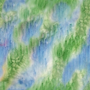 Blue Green Salted Watercolor Look