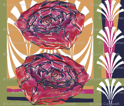 Art Deco Collage Extra large flowers