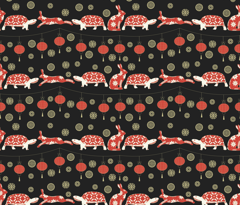 Hare & Tortoise fabric by meredith_watson on Spoonflower - custom fabric