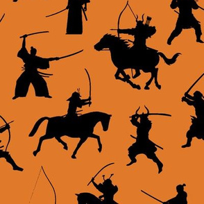 Samurai on Orange // Large