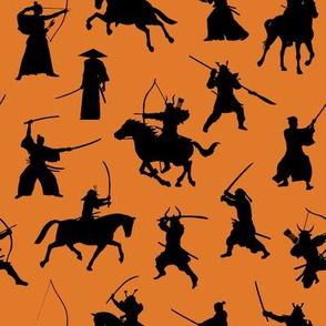 Samurai on Orange // Small