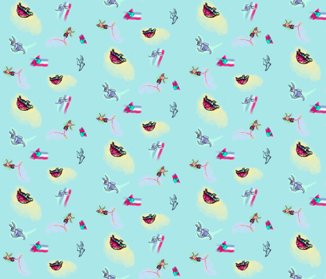 ProjectTortise Hare fabric by nschdesigns on Spoonflower - custom fabric