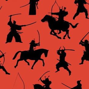 Samurai on Red // Large