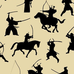 Samurai on Tan // Large