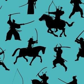 Samurai on Turquoise // Large