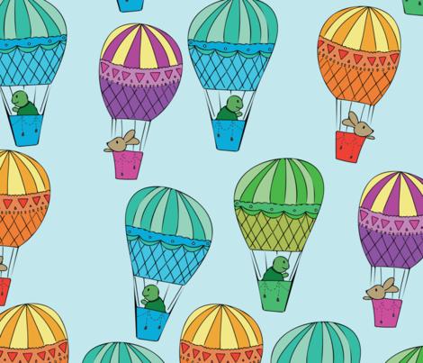 Race to the Sky fabric by nataliatcha on Spoonflower - custom fabric
