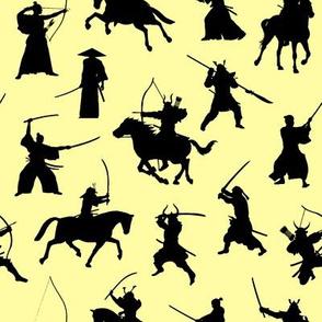 Samurai on Yellow // Small