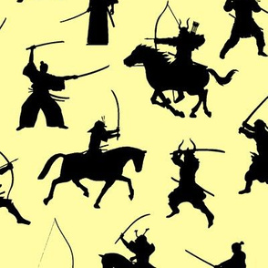 Samurai on Yellow // Large