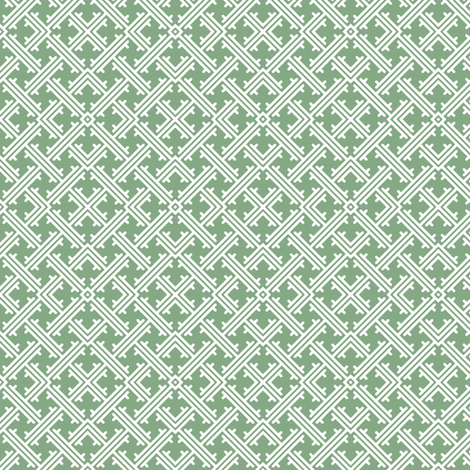 Sweater Point - White on Green fabric by piecefulbee on Spoonflower - custom fabric