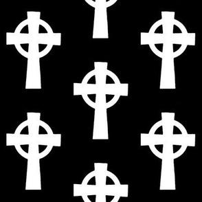 Celtic Crosses on Black // Large