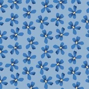 Blue Floral Small Geranium Blooms
