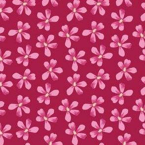 Pink Floral Small Geranium Blooms