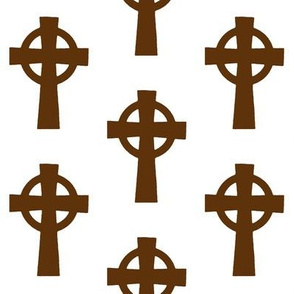 Brown Celtic Crosses // Large