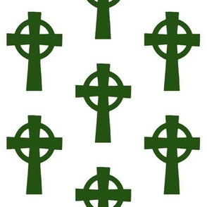Emerald Celtic Crosses // Large