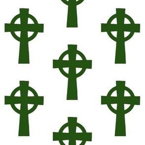 Emerald Celtic Crosses // Large