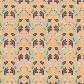 peach christina repeat tile