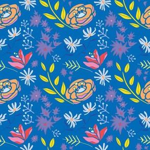 Spring Floral in Blue