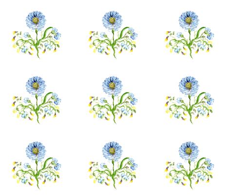 Cornflower fabric by lissikaplan on Spoonflower - custom fabric