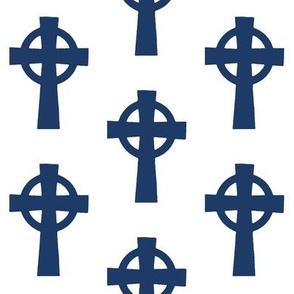 Navy Celtic Crosses // Large