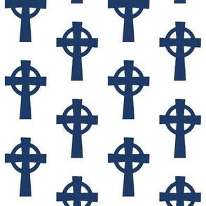 Celtic Crosses on Navy // Small
