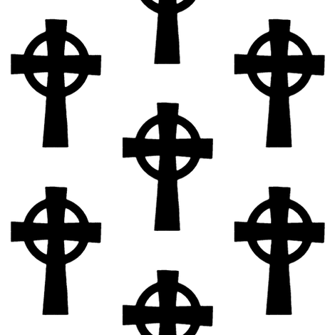 Celtic Crosses // Large fabric by thinlinetextiles on Spoonflower - custom fabric