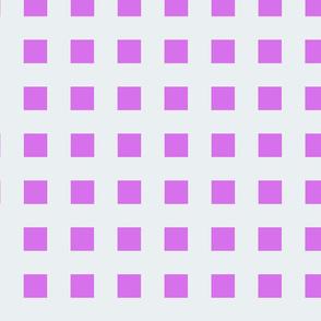 Mauveine Purple Squares on Silver