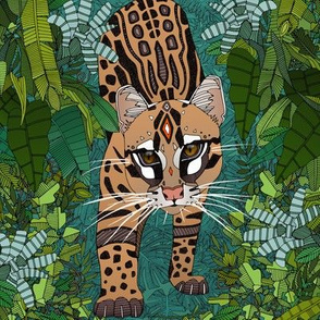 ocelot jungle green swatch
