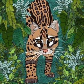 ocelot jungle green swatch